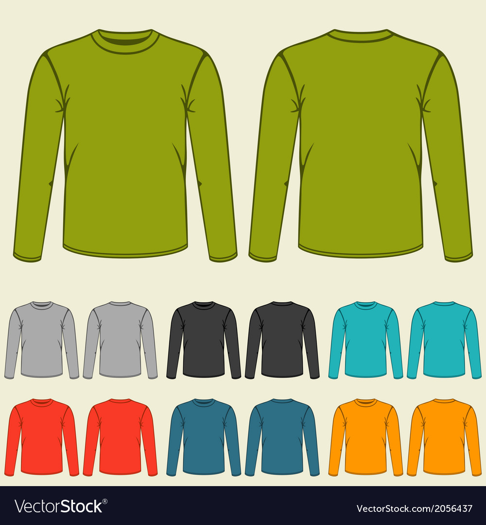 Set of templates colored sweatshirts for men vector | Price: 1 Credit (USD $1)