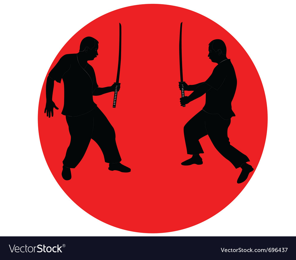 Silhouette japanese ninja vector | Price: 1 Credit (USD $1)