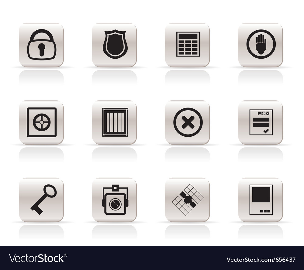 Simple security and business icons vector | Price: 1 Credit (USD $1)