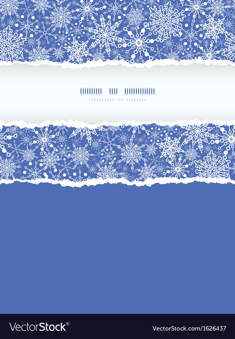 Snowflake texture vertical torn frame seamless vector | Price: 1 Credit (USD $1)