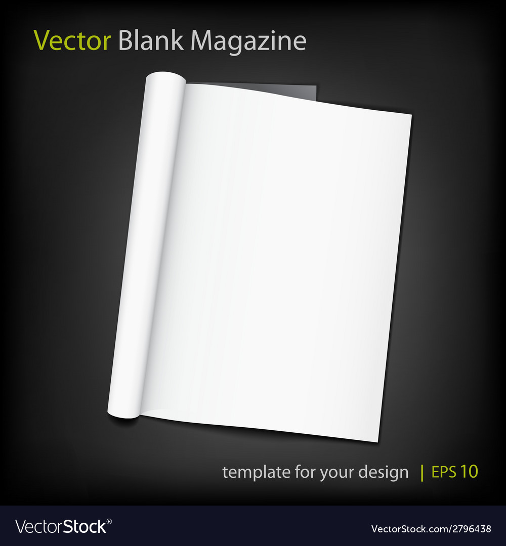 Blank page of magazine on black background vector | Price: 1 Credit (USD $1)