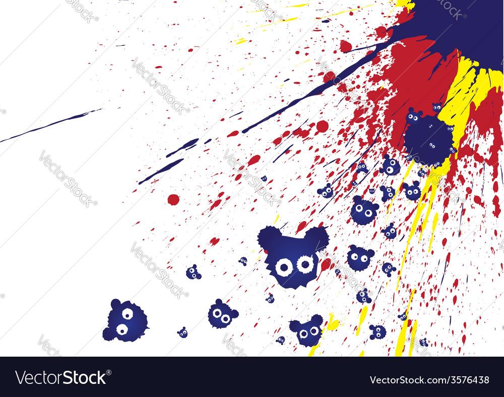 Blots with eyes vector | Price: 1 Credit (USD $1)