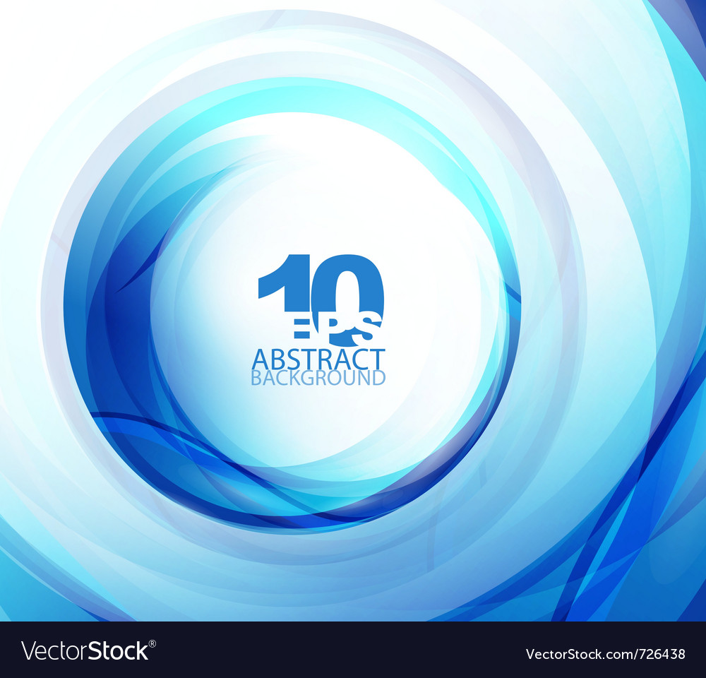 Blue wave abstract circle vector | Price: 1 Credit (USD $1)