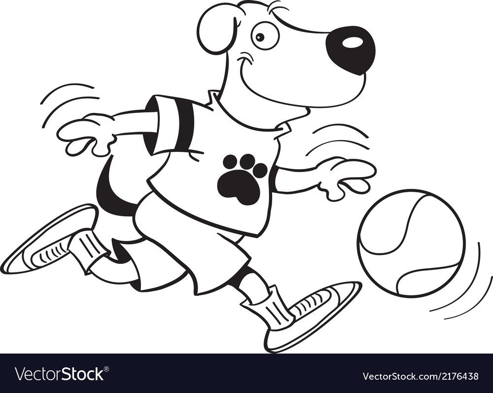 Cartoon dog playing basketball vector | Price: 1 Credit (USD $1)