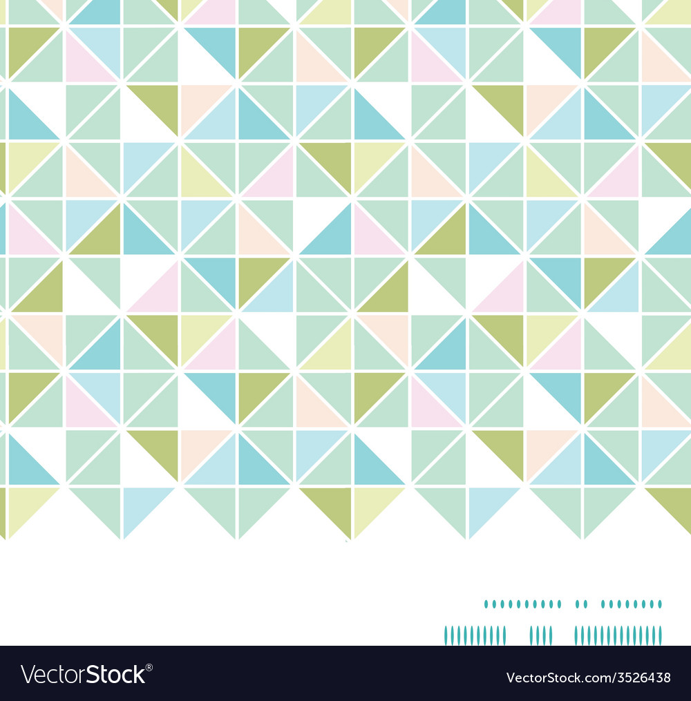 Colorful pastel triangle texture horizontal frame vector | Price: 1 Credit (USD $1)