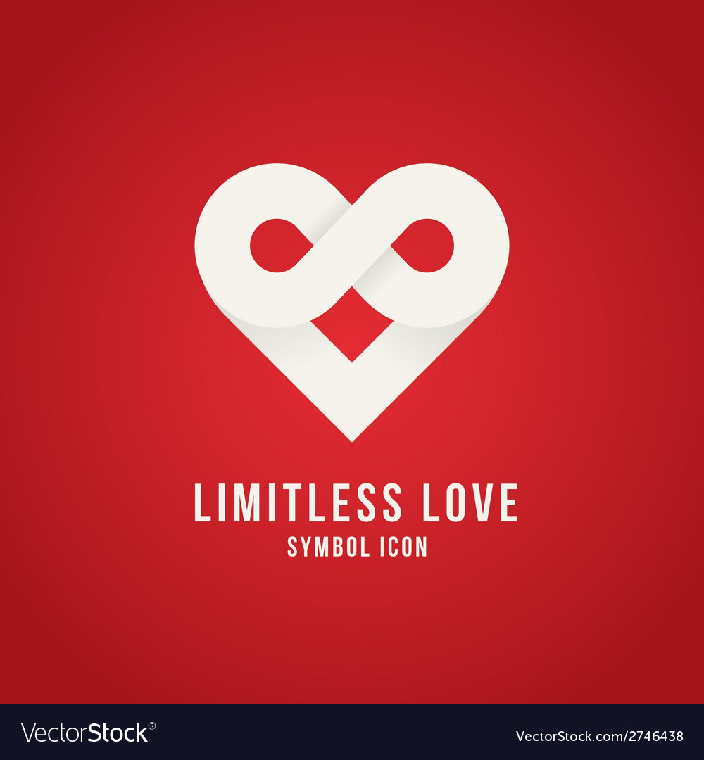 Limitless love concept symbol icon logo template vector | Price: 1 Credit (USD $1)