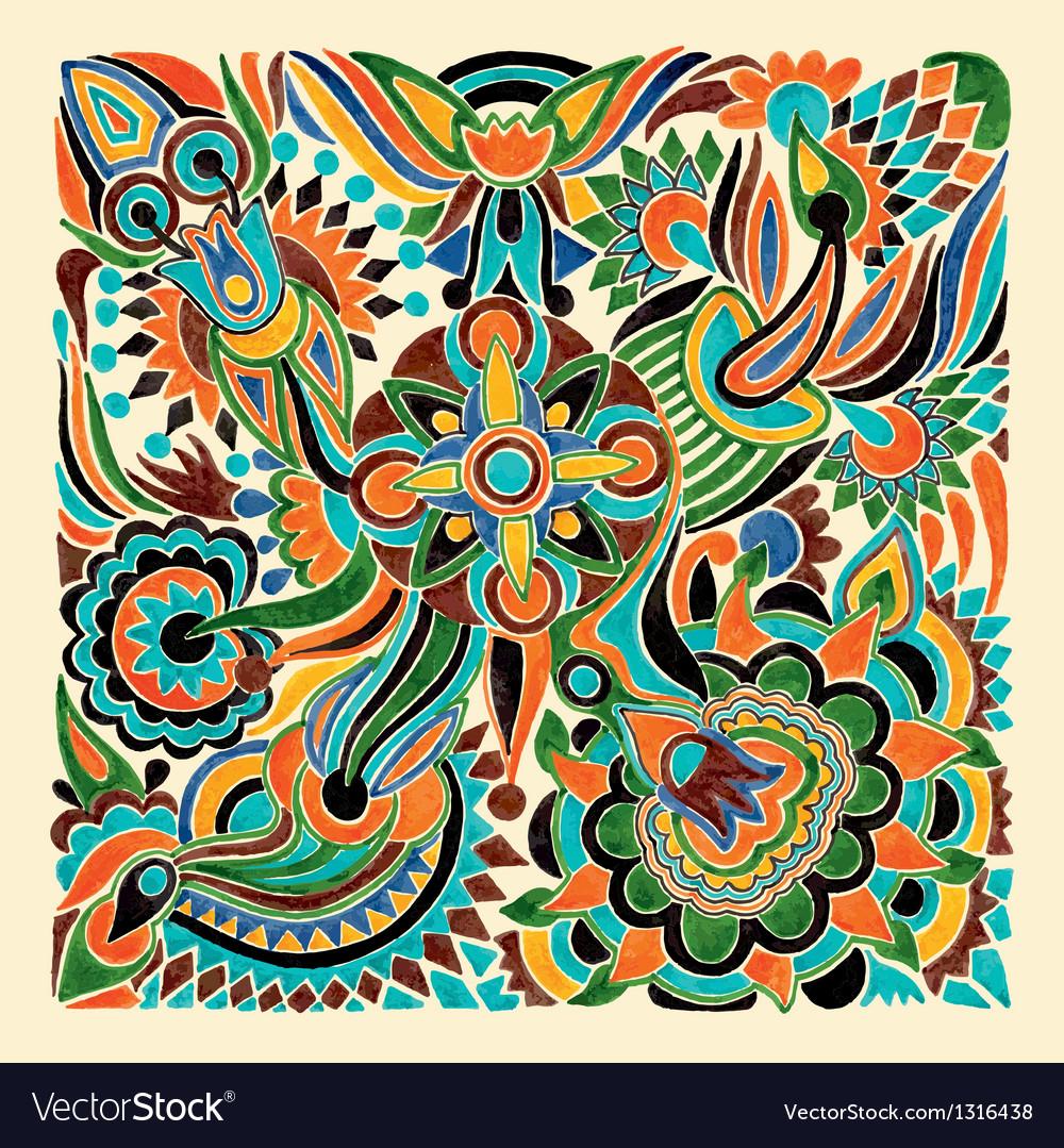 Marker flower ethnic design vector | Price: 1 Credit (USD $1)