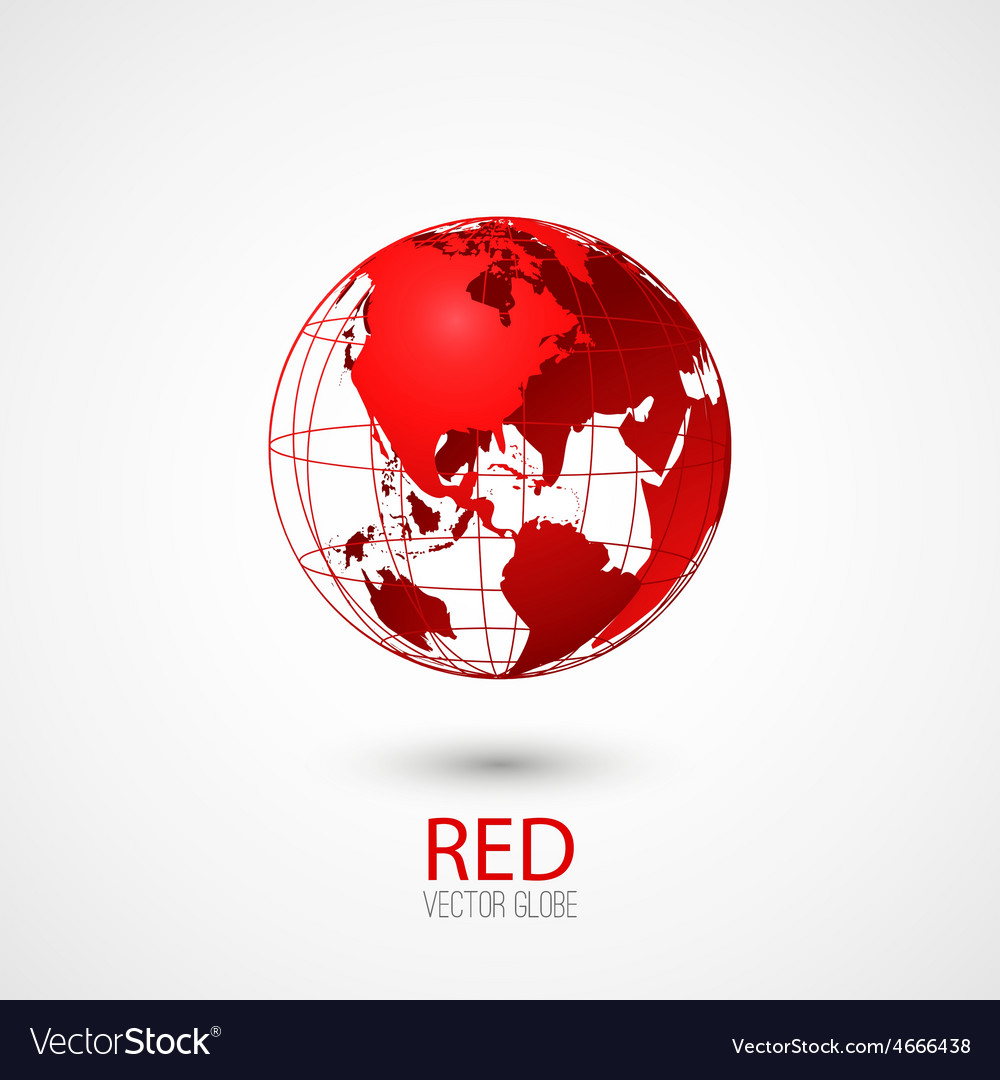 Red globe vector | Price: 1 Credit (USD $1)