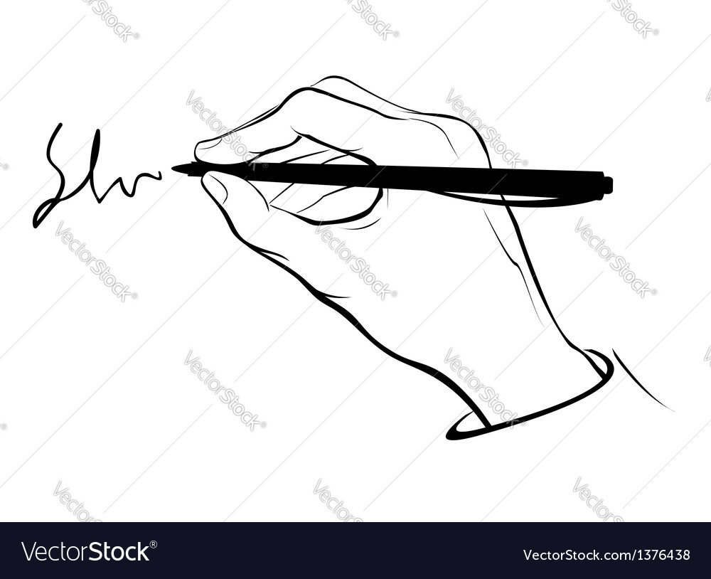 Writing hand outline vector | Price: 1 Credit (USD $1)