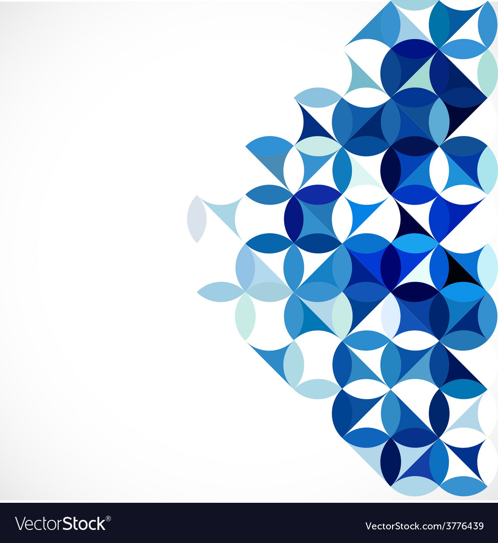 Abstract blue geometric concept and blank for text vector | Price: 1 Credit (USD $1)