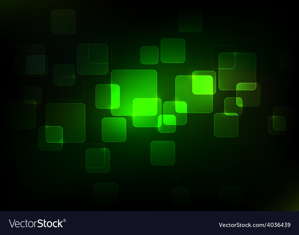 Abstract green squares background vector | Price: 1 Credit (USD $1)
