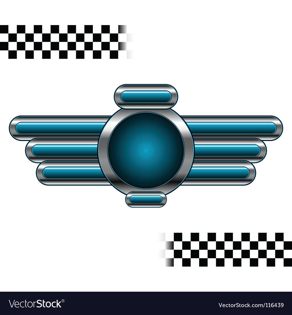 Chromo badge vector | Price: 1 Credit (USD $1)