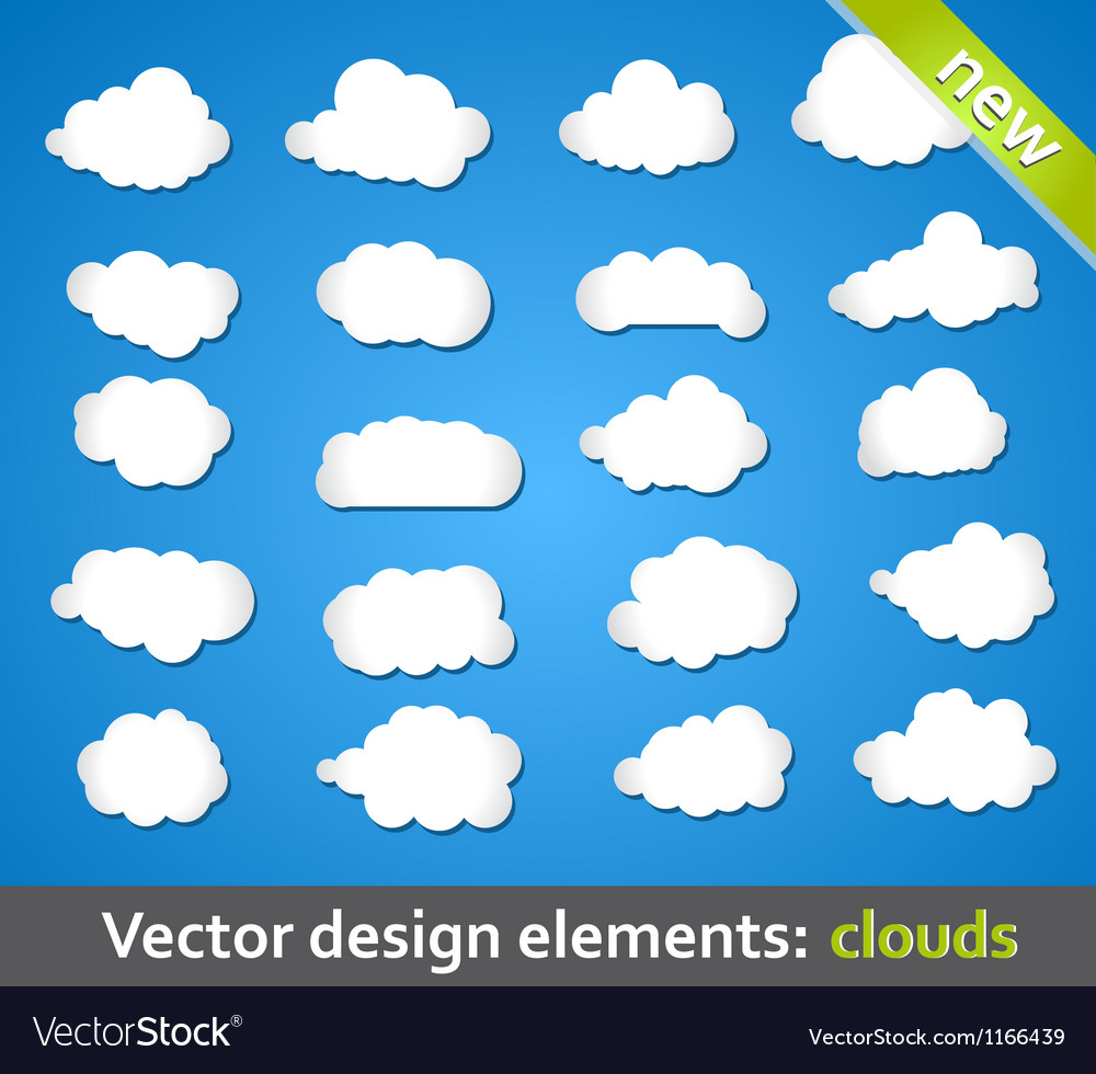 Design elements clouds vector | Price: 1 Credit (USD $1)