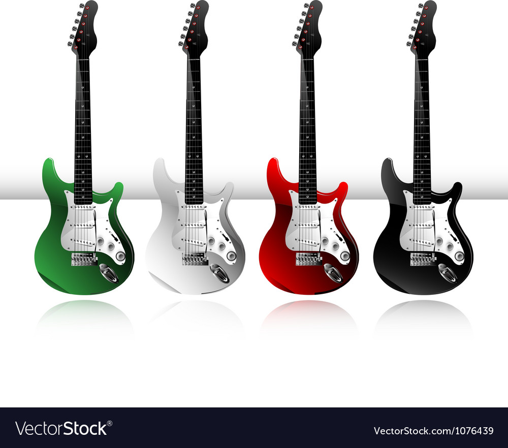 Electric guitars vector | Price: 3 Credit (USD $3)