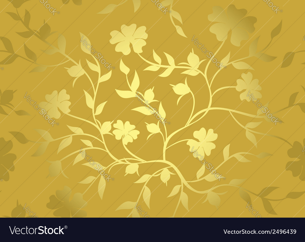 Floral golden pattern vector | Price: 1 Credit (USD $1)