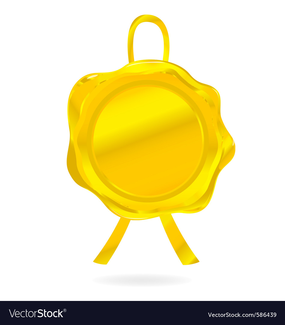 Gold wax seal vector | Price: 1 Credit (USD $1)