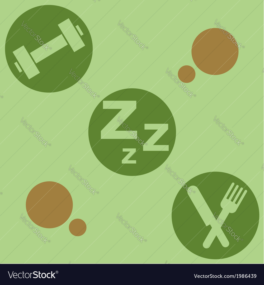 Healthy living vector | Price: 1 Credit (USD $1)