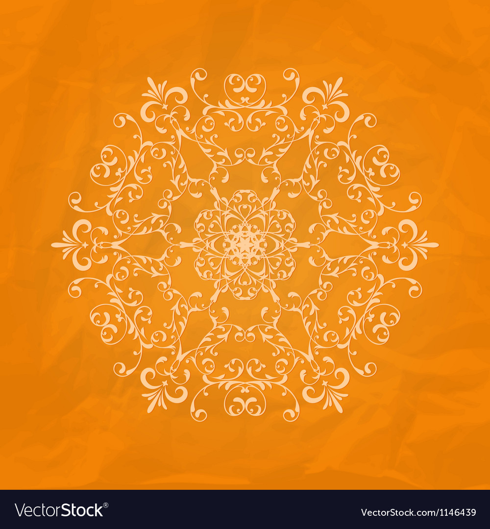 Lacy napkin on crumpled paper texture vector | Price: 1 Credit (USD $1)