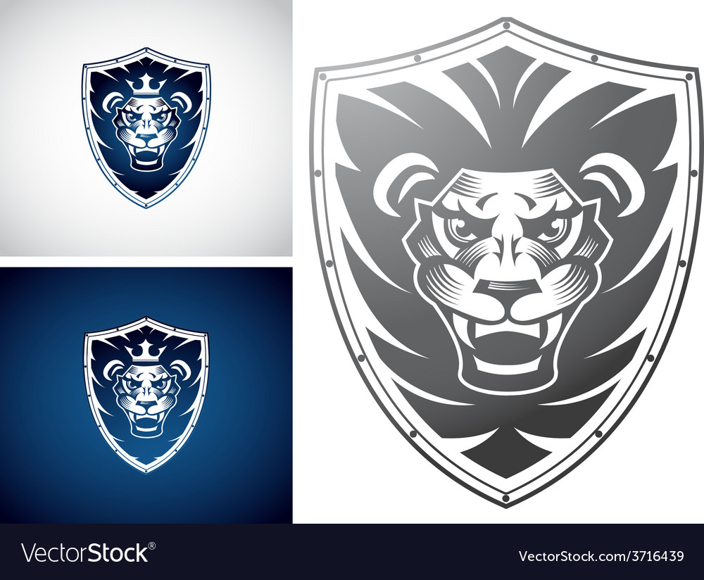 Lion on a shield vector | Price: 1 Credit (USD $1)