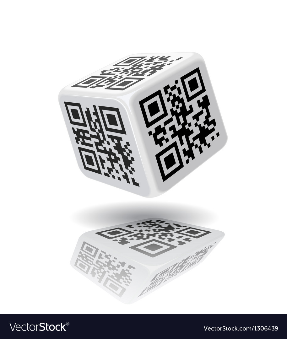 Qr code cube vector | Price: 1 Credit (USD $1)