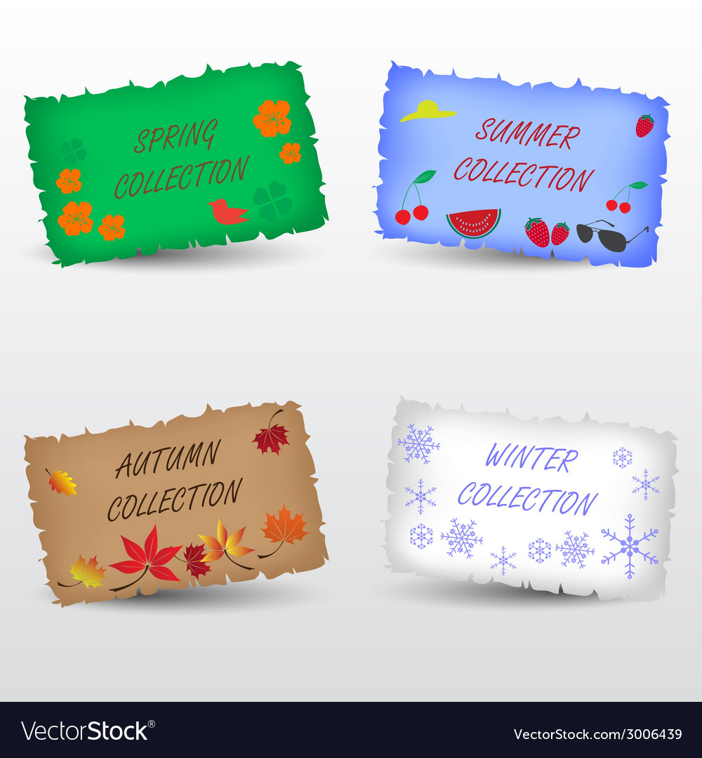 Seasons collection shop label eps10 vector | Price: 1 Credit (USD $1)