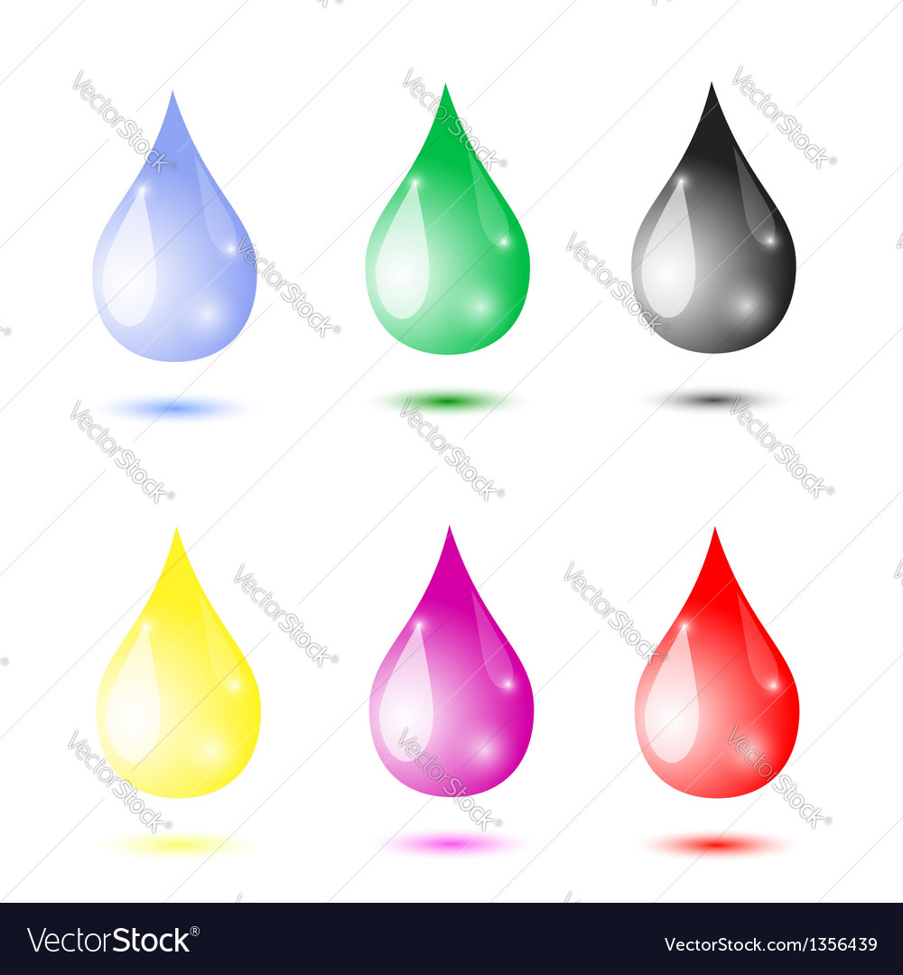 Set of drops vector | Price: 1 Credit (USD $1)