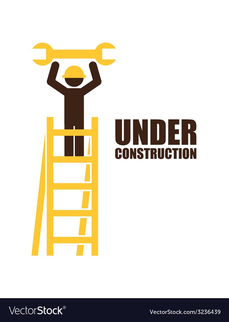 Under construction design vector   Price: 1 Credit (USD $1)