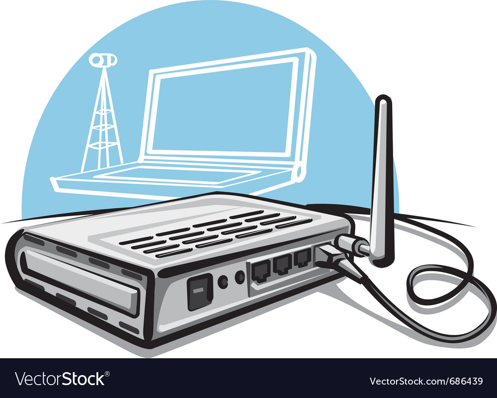Wireless router vector   Price: 3 Credit (USD $3)