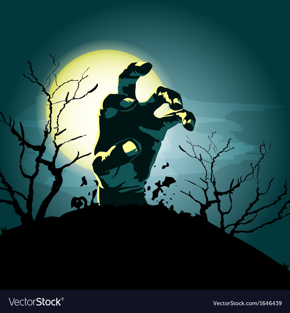 Zombie hand background vector | Price: 1 Credit (USD $1)