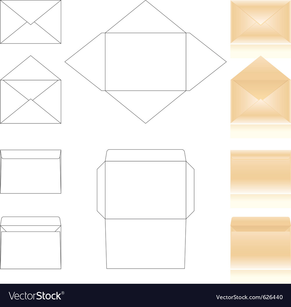 Envelopes templates vector | Price: 1 Credit (USD $1)