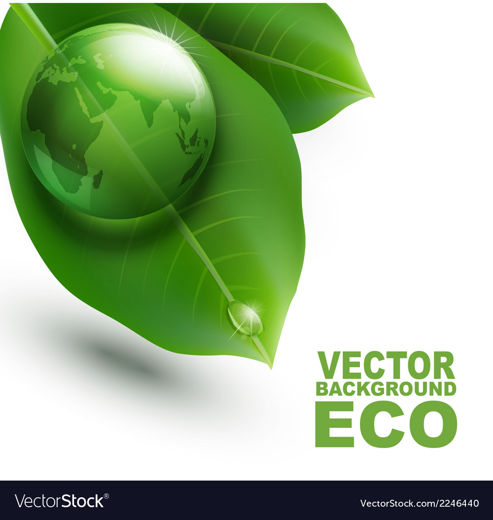 Environmental element with transparent green ball vector | Price: 1 Credit (USD $1)