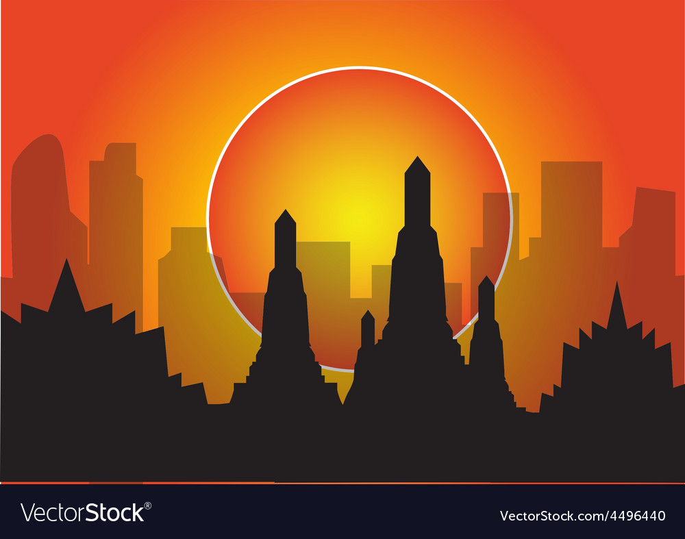 Highrise temple vector | Price: 1 Credit (USD $1)