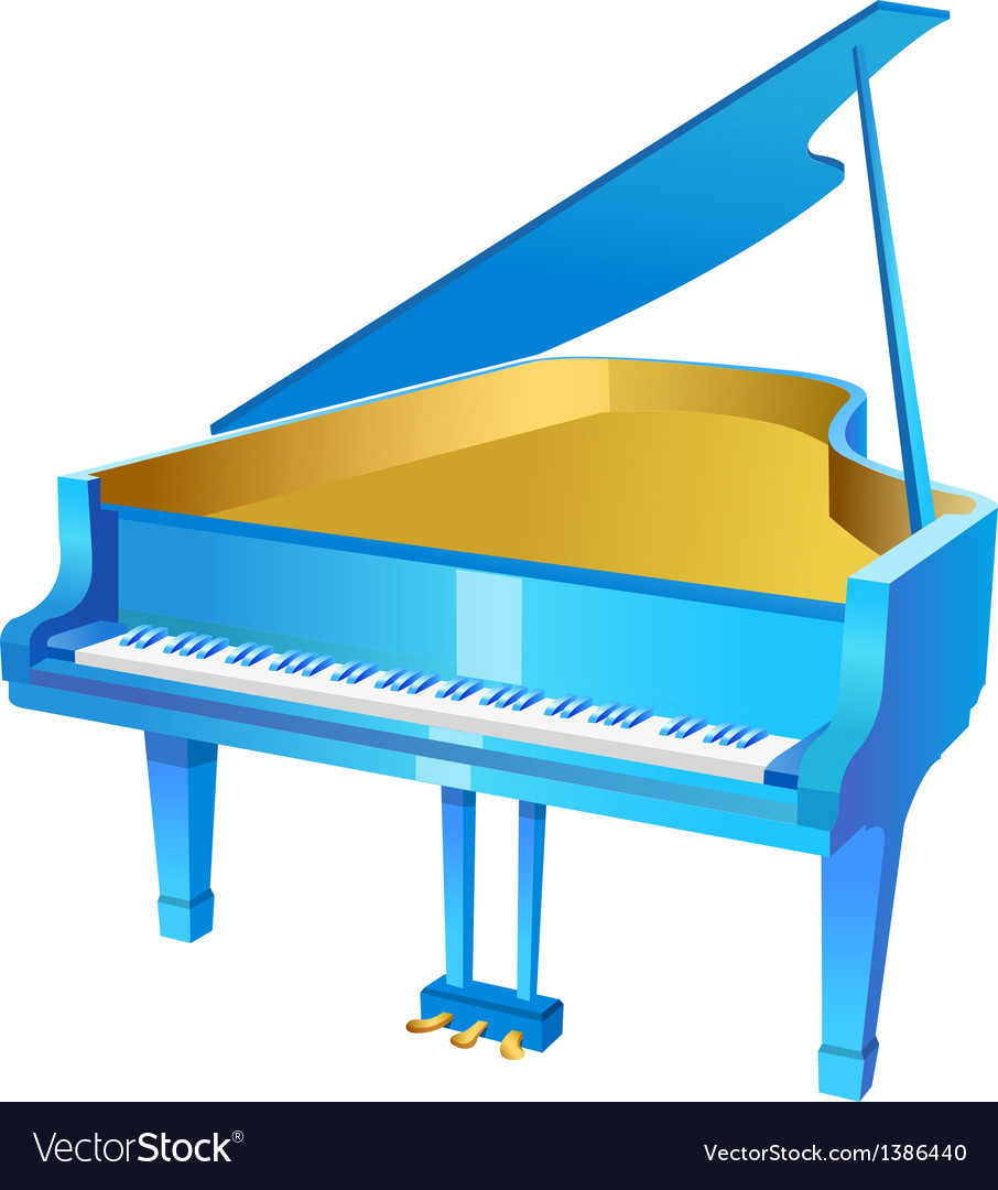 Icon piano vector | Price: 1 Credit (USD $1)