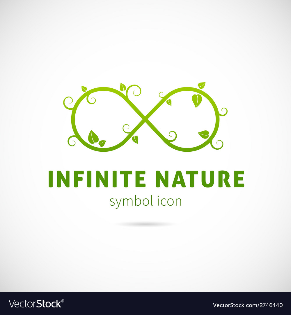 Infinite nature concept symbol icon or logo vector | Price: 1 Credit (USD $1)