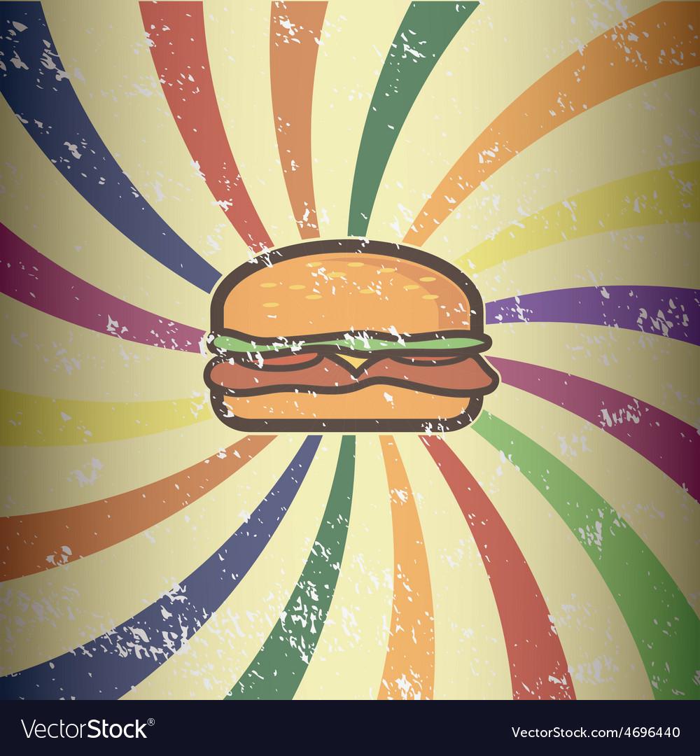 Retro hamburger design vector | Price: 1 Credit (USD $1)