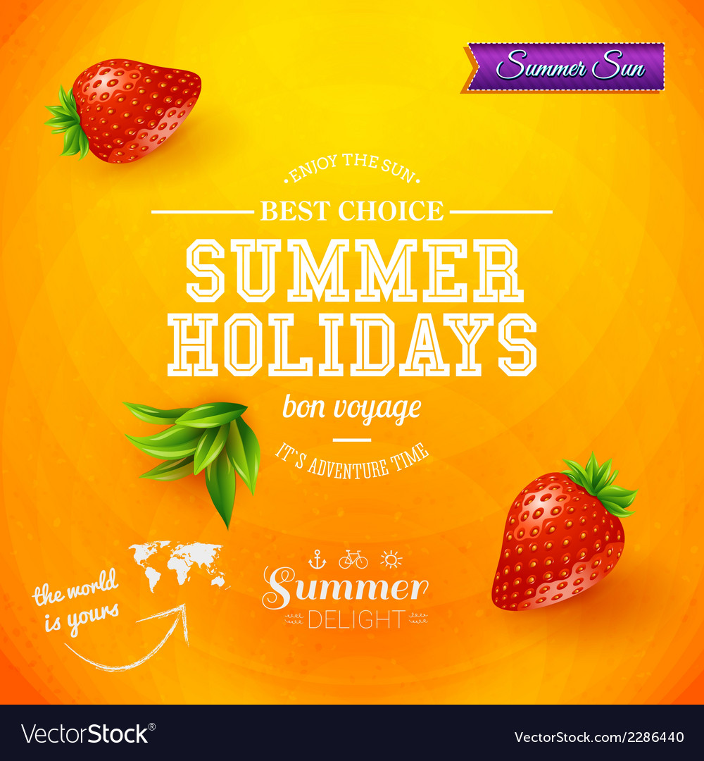 Summer design bright poster for summer holidays vector | Price: 1 Credit (USD $1)