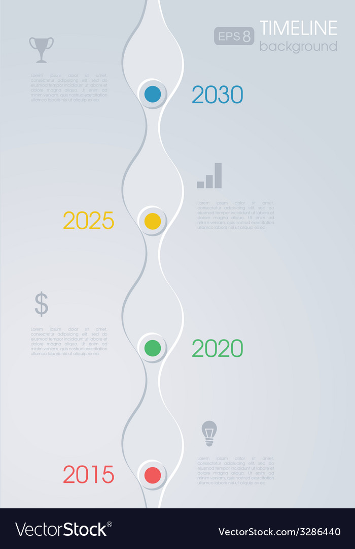 Timeline infographic design on a grey background vector | Price: 1 Credit (USD $1)