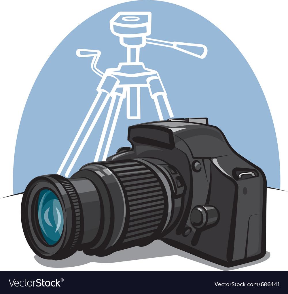 Digital camera vector | Price: 3 Credit (USD $3)