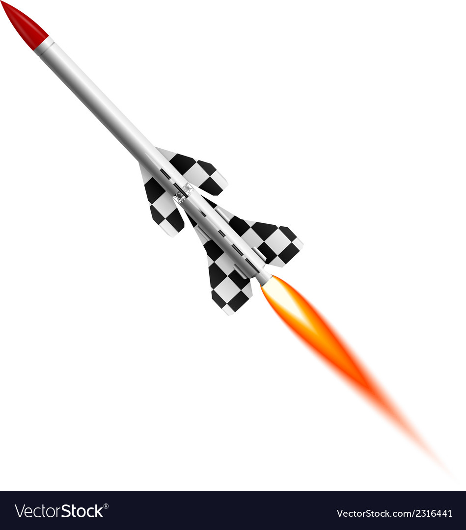 Flying two-stage rocket vector | Price: 1 Credit (USD $1)