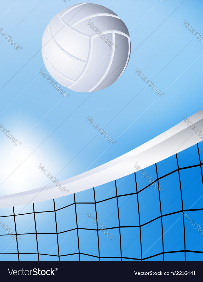 Flying volleyball vector | Price: 1 Credit (USD $1)
