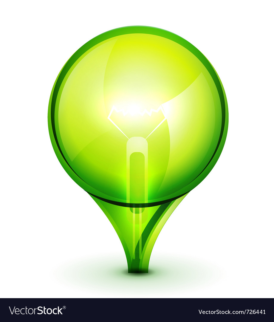 Green light bublb energy saving concept vector | Price: 1 Credit (USD $1)