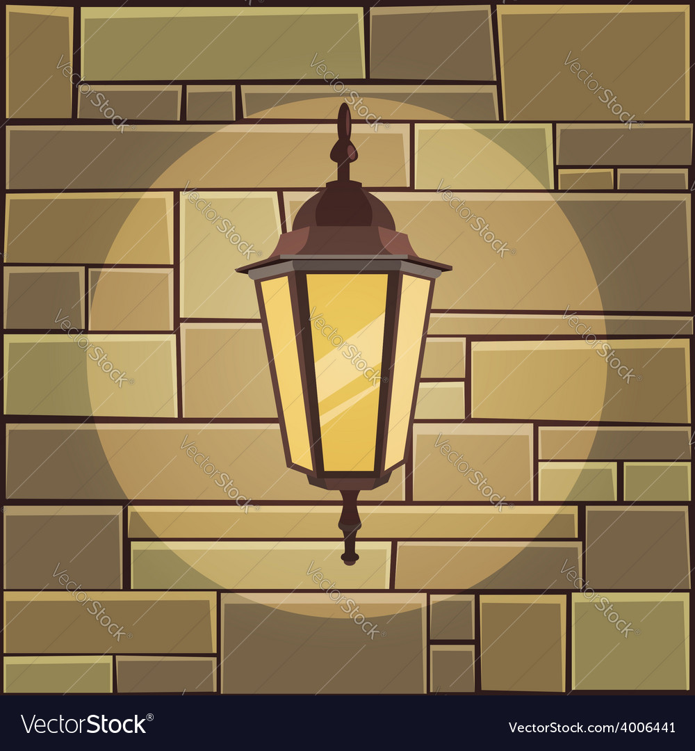 Lantern on the wall vector | Price: 5 Credit (USD $5)