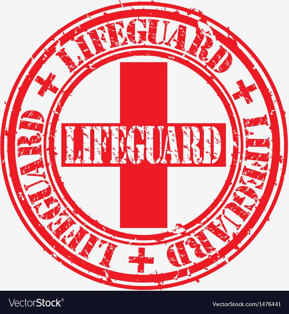 Lifeguard stamp vector | Price: 1 Credit (USD $1)