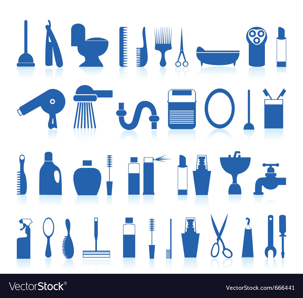 Restroom bathroom icons vector | Price: 1 Credit (USD $1)