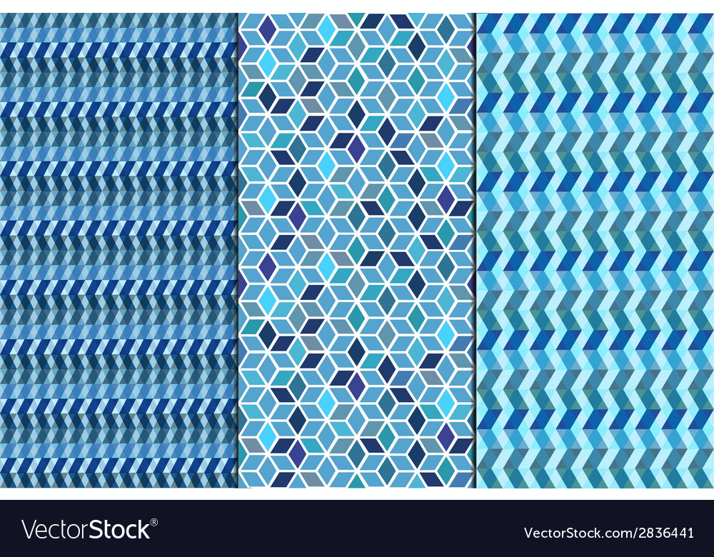 Set seamless geometric abstract patterns vector | Price: 1 Credit (USD $1)
