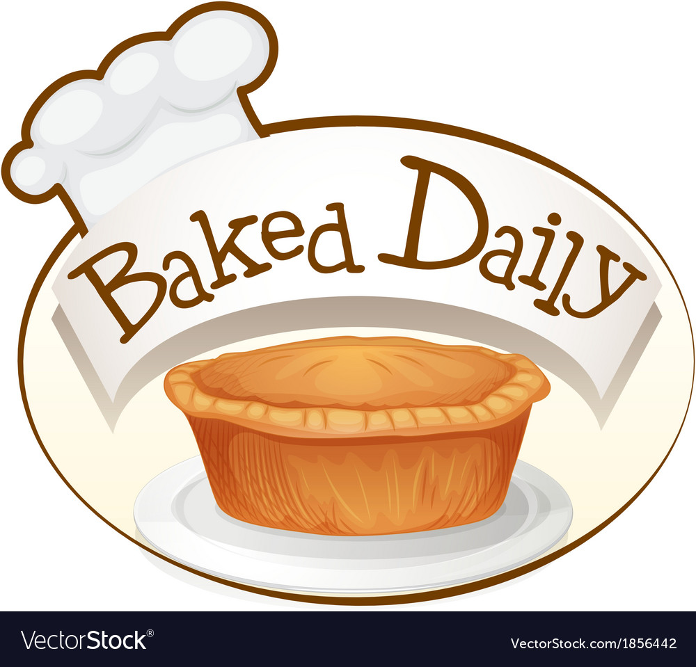 A baked daily label with a cupcake vector | Price: 1 Credit (USD $1)