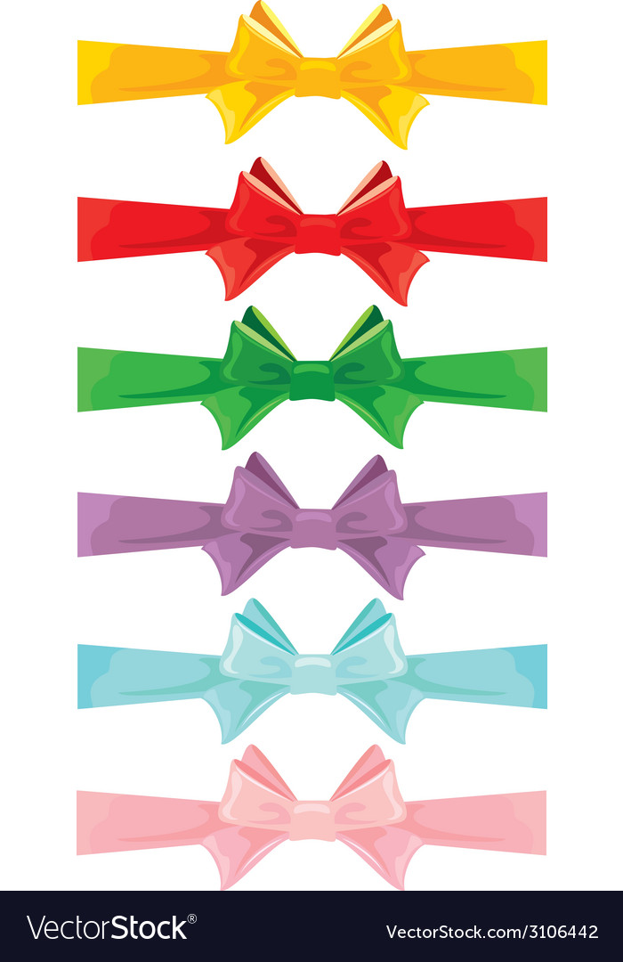 Color bow set 380 vector | Price: 1 Credit (USD $1)