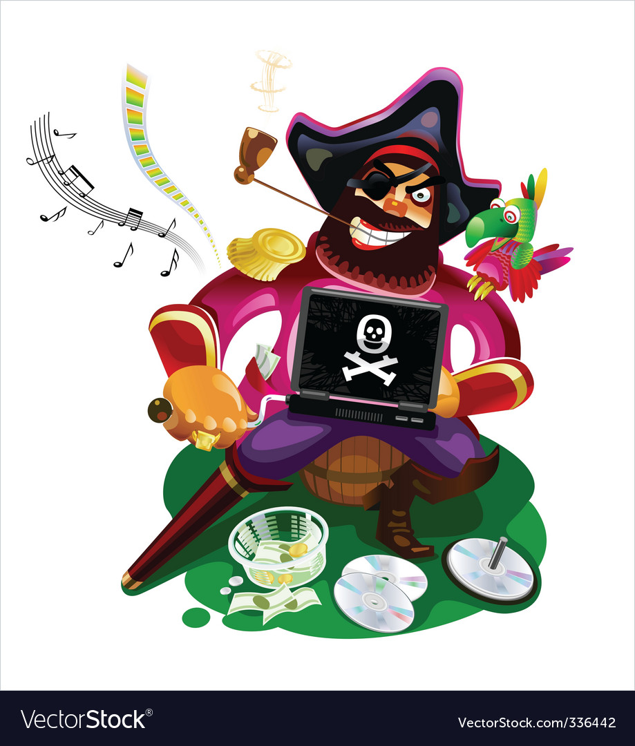 Digital pirate vector | Price: 3 Credit (USD $3)