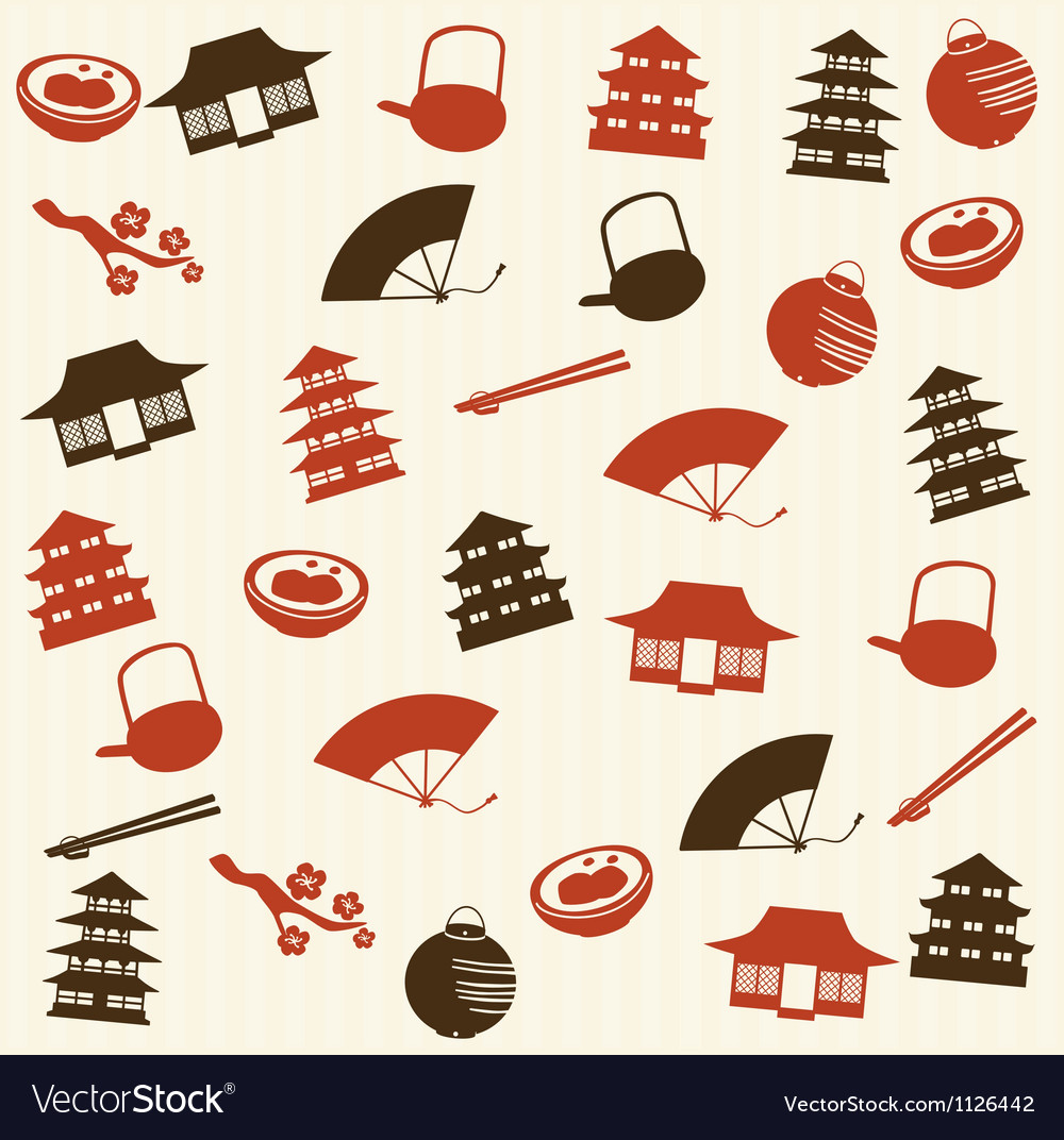 Japanese seamless pattern 2 vector | Price: 1 Credit (USD $1)