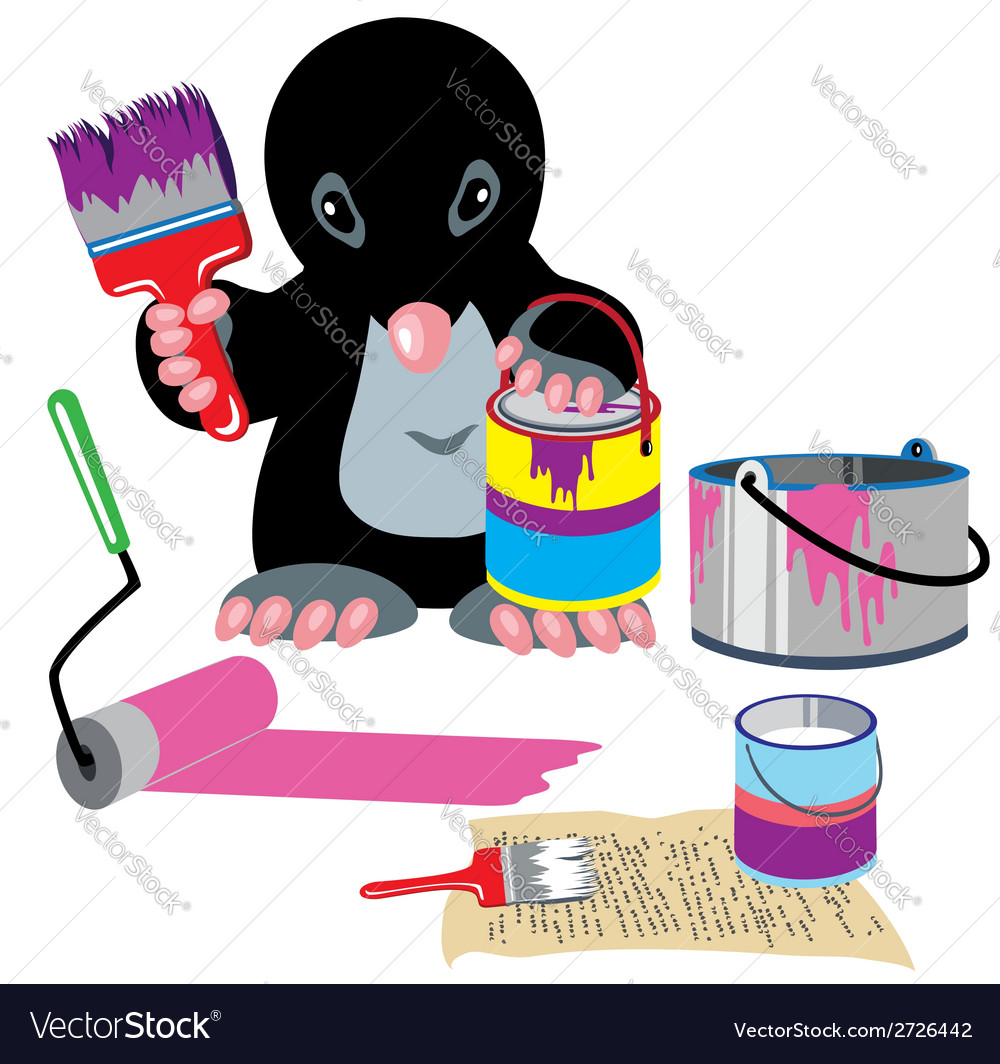 Mole home painter vector | Price: 1 Credit (USD $1)